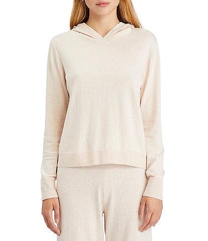 Sanctuary Essential Popover Long Sleeve Crew Neck Hoodie Sweater