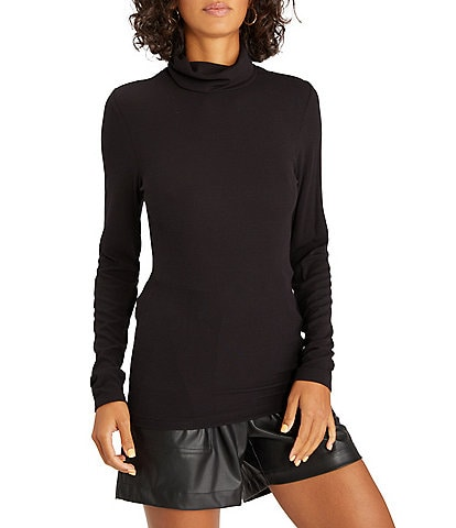 Sanctuary Essentials Turtleneck Rib Knit Top