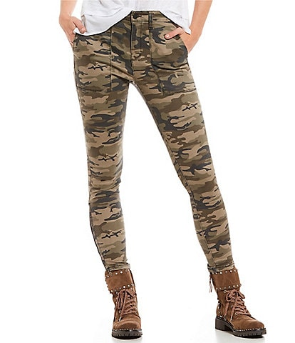 Sanctuary Fast Track Camo Twill Chino Skinny Pant