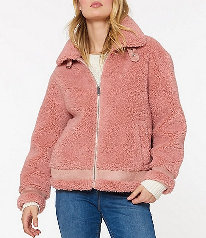 Sanctuary Sherpa Cropped Bike Coat