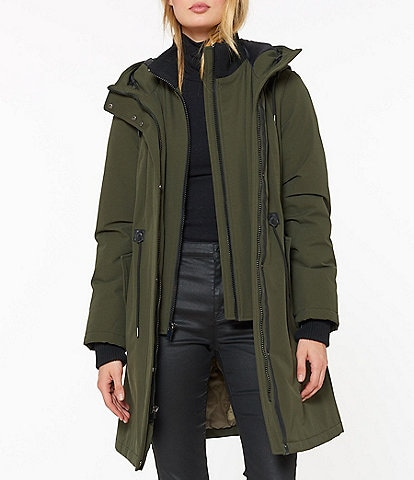 Sanctuary Hooded Drawcord Waist Anorak Parka