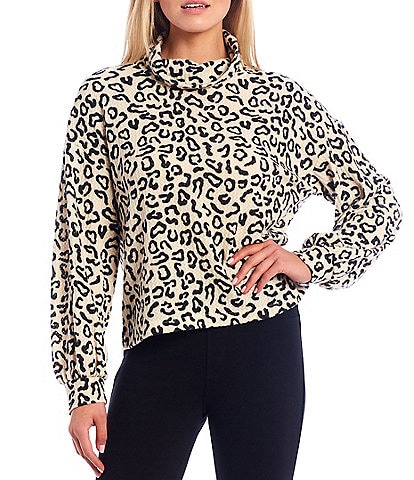 Sanctuary Klara Animal Print Knit Long Sleeve Tee