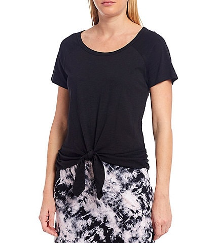 Sanctuary Lou Ruched Tie Front Tee