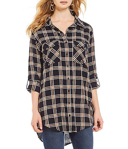 Sanctuary Main St. Boyfriend Plaid Tunic