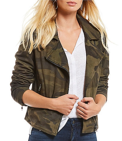 Sanctuary Peace Rider Camo Genuine Leather Jacket