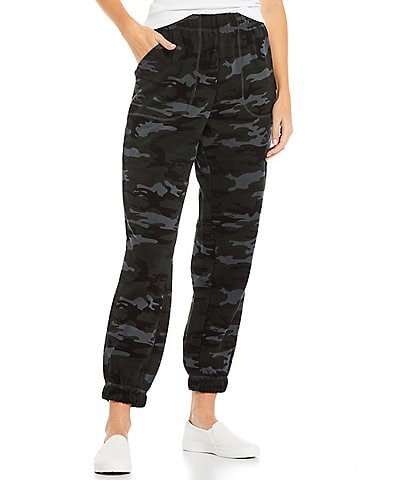 Sanctuary Perfect Camouflage Print Knit Pull-On Sweatpants