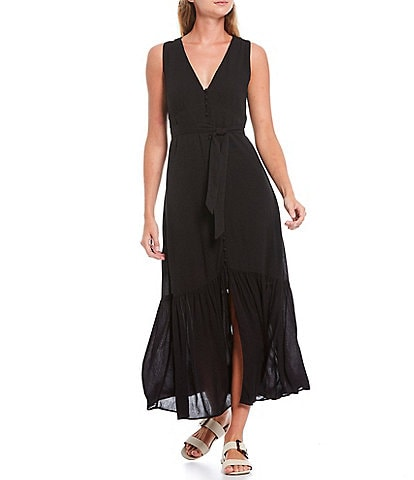 Sanctuary Perfect Melody V-Neck Sleeveless Tie Waist Midi Dress