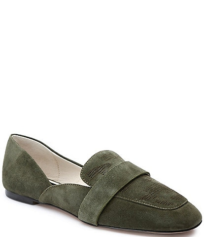 Sanctuary Sass Suede Camo Etched Loafers