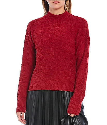 Sanctuary Teddy Mock Neck Long Sleeve Sweater