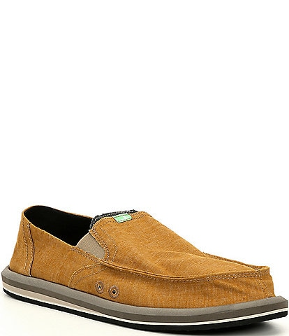 Sanuk Men's Pick Pocket Hemp Slip Ons