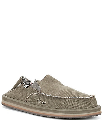 Sanuk Men's Vagabond ST Hemp Slip-On Shoes