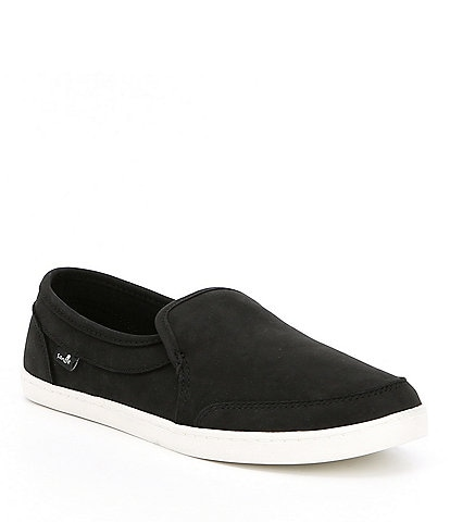 Sanuk Pair O Dice Leather Slip-On Shoes