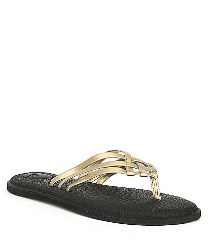 Sanuk Women's Yoga Salty Metallic Flip Flop Sandals