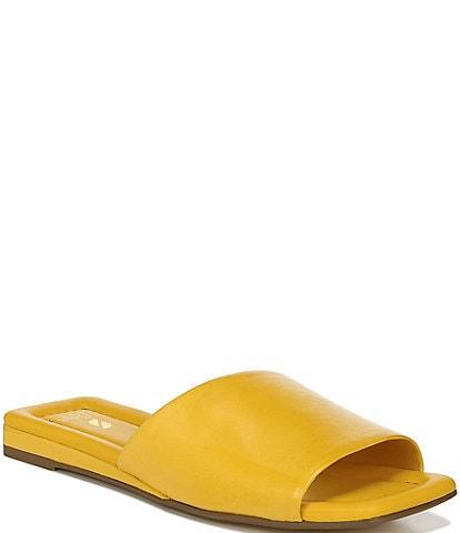 Sarto by Franco Sarto Bordo Leather Square Toe Slide Sandals