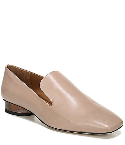 Sarto by Franco Sarto Faith 2 Leather Rounded Block Heel Loafers
