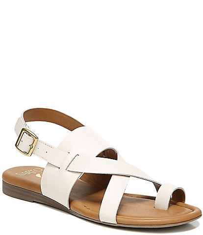 Sarto by Franco Sarto Gia Leather Toe Ring Thong Sandals