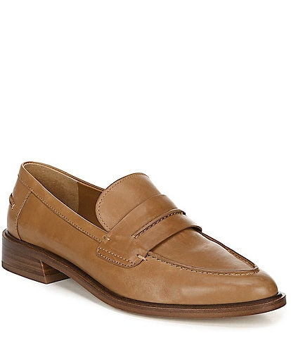 Sarto by Franco Sarto Irena Leather Block Heights Loafers