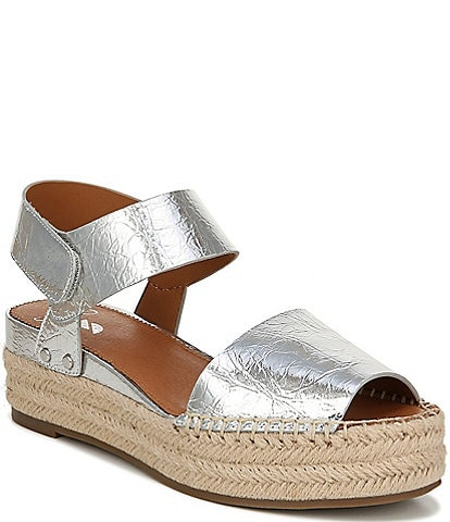 Sarto by Franco Sarto Oak Metallic Leather Espadrille Sandals