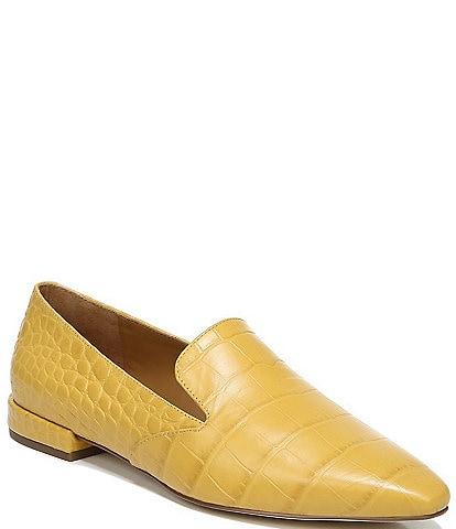Sarto by Franco Sarto Parma Croc Embossed Leather Loafers