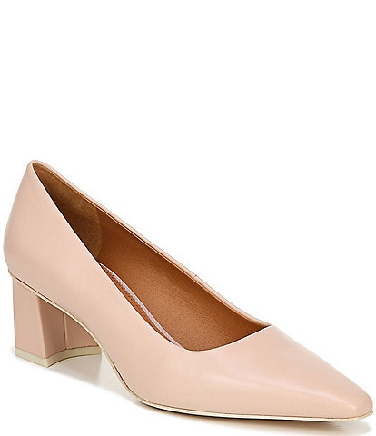 Sarto By Franco Sarto Regal Leather Block Heel Pumps