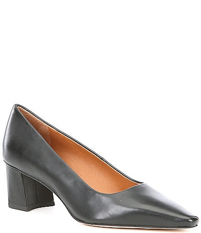 Sarto By Franco Sarto Regal Leather Snip Toe Pumps