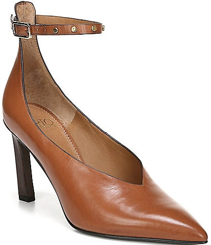 Sarto by Franco Sarto Sarah Ankle Strap Leather Pumps