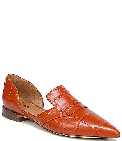 Sarto by Franco Sarto Toby Croc Embossed Leather d'Orsay Flats