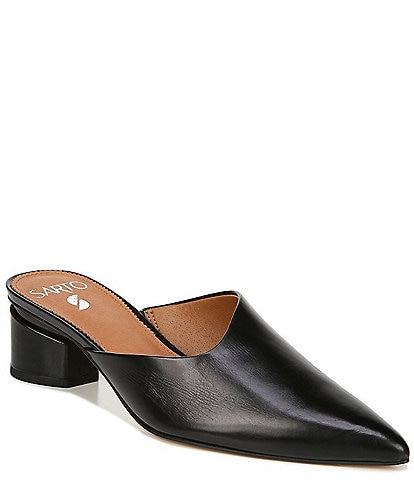 Sarto by Franco Sarto Visa Leather Pointed Toe Mules