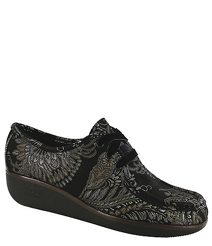 SAS Bounce Ltd Brocade Print Lace Up Mocs