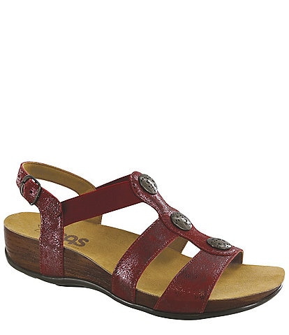 SAS Clover Leather Sandals