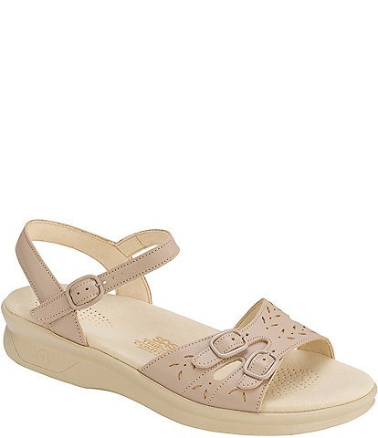 SAS Duo Leather Wedge Sandals