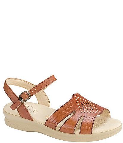 SAS Huarache Strippy Quarter Strap Wedge Comfort Sandal