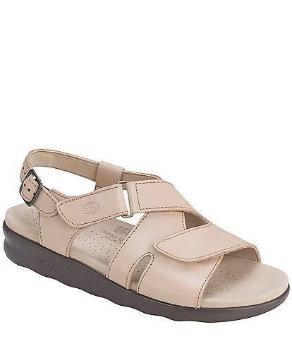SAS Huggy Leather Sandals