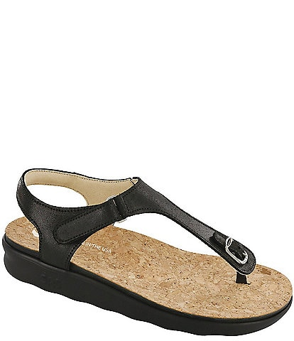 SAS Marina Leather Thong Sandals