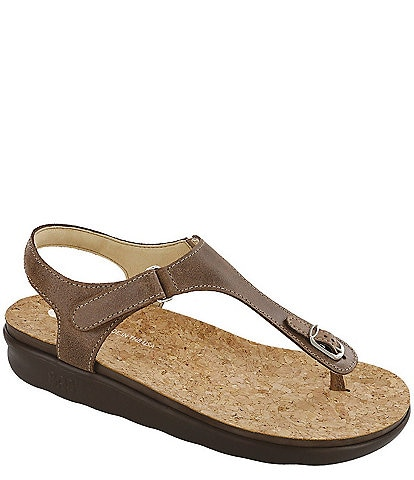 SAS Marina Leather Thong Sandals