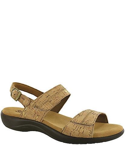 SAS Nudu Cork Heel Strap Wedge Sandals