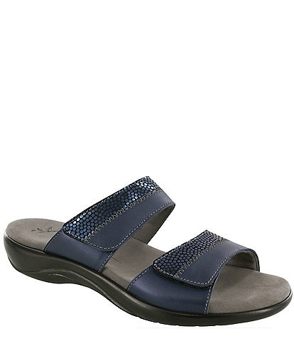 SAS Nudu Dot Printed Leather Wedge Slides