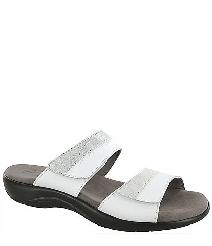 SAS Nudu Printed Leather Slides