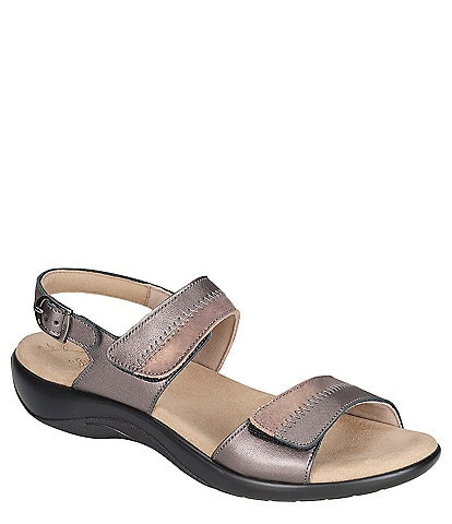 SAS Nudu Two-Toned Leather Sandals