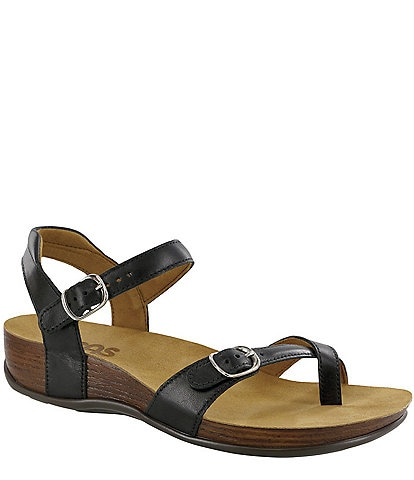SAS Pampa Leather Wedge Sandals