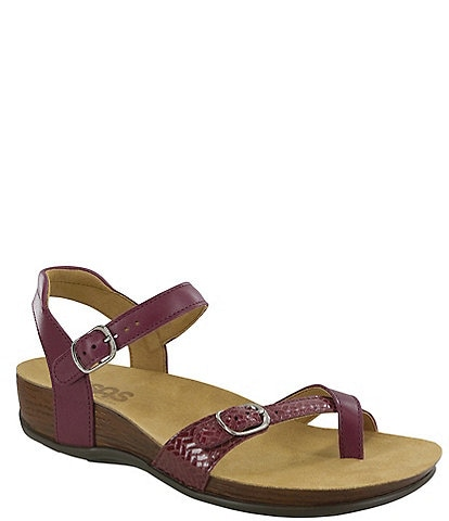 SAS Pampa Printed Weave Leather Wedge Sandals