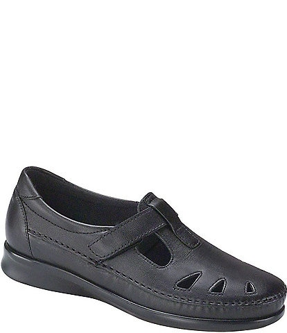 SAS Roamer Leather Flat Loafers