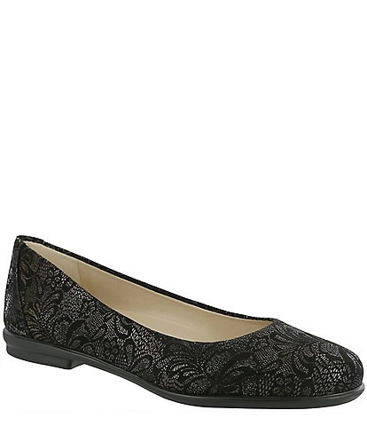 SAS Scenic Lace Print Leather Slip Ons