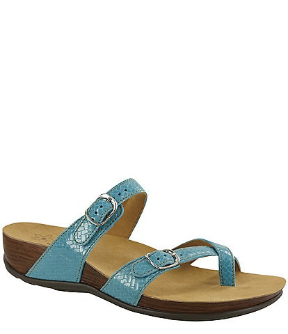 SAS Shelly Weave Print Leather Slides