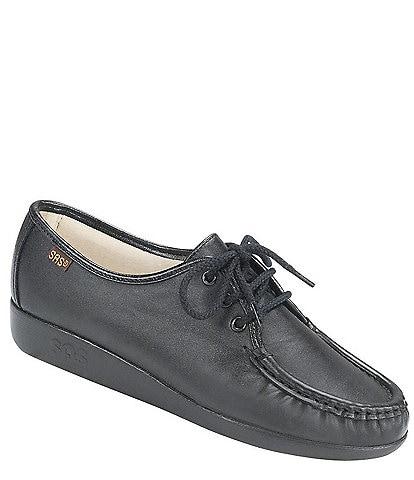 SAS Siesta Leather Wedge Oxford