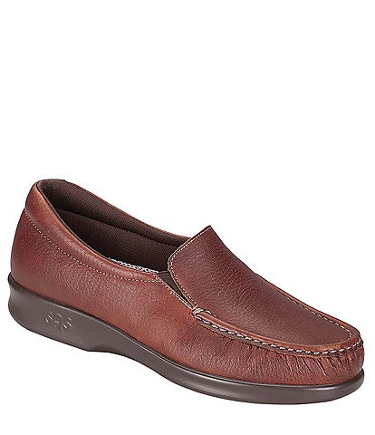 SAS Twin Leather Moc Toe Loafer
