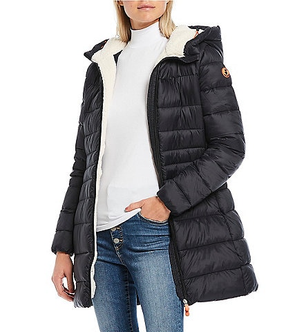 Save the Duck Giga Synthetic Down Faux Sherpa Long Hooded Parka