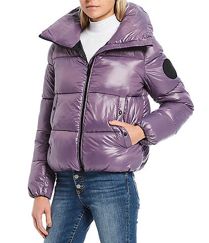 Save the Duck Luck Synthetic Down Glossy Quilted Puffer Coat