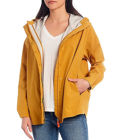 Save the Duck Miley Packable Long Sleeve Hooded Raincoat