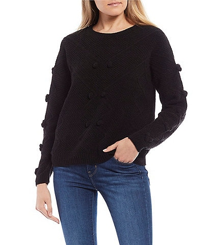 Say What Pom Pom Chenille Sweater